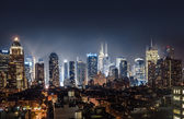Night view of Midtown Manhattan — Photo