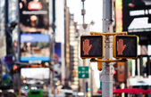 Don't walk New York traffic sign — Stock Photo