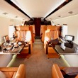 Private plane interior — Stock Photo