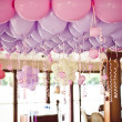 Stock Photo: Balloons under the ceiling on the wedding party