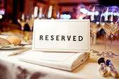 Reserved sign — Stock Photo