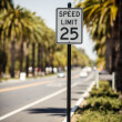 Stock Photo: Speed Limit 25 sign