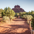 Sedona at the foot of the mountains — Stock Photo