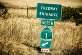 Route 1 sign — Stock Photo