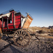 Horse drawn wagon in the Mojave desert. — Stock Photo #39965517