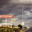 Restaurant sign along historic Route 66 — Stock Photo #39965903