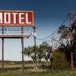 Old motel sign on Route 66 — Stock Photo