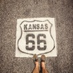 Kansas Route 66 — Stock Photo