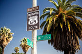 Historic route 66 highway sign — Stock Photo