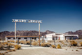 Abandoned school on the Route 66 — Stock Photo