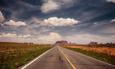 Long road to Monument Valley — Stock Photo