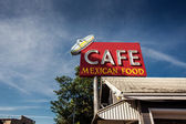 Cafe sign along historic Route 66 — Stock Photo