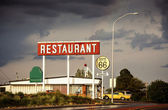 Restaurant sign along Route 66 — Stock Photo