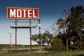 Eski motel işareti rota 66 — Stok fotoğraf