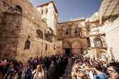 Entrance to the Church of the Holy Sepulchre — Stock Photo