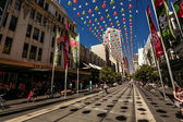 Bourke Street in Melbourne — Stock Photo