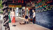 сообщество хиппи в городке нимбин — Стоковое фото