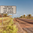 Road sign in Northern Territory — Stock Photo #44599993