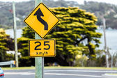 Road sign of the maximum speed — Stock Photo