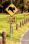 Koala Crossing sign — Stock Photo