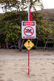 Australian marine stinger warning sign — Stock Photo