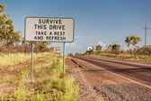 Road sign in Northern Territory — Stock Photo
