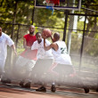 Street basketball players — Stock Photo