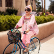 Mature woman riding bicycle — Stock Photo #45510711