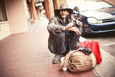 Beggar man in Santa Fe — Stock Photo