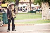 Beggar man in Santa Fe — Stock Photo