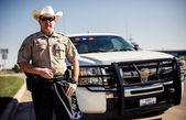 Policeman in Texas — Stock Photo