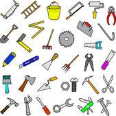 Set of construction tools design elements — Stock Vector