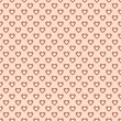 Seamless pattern with hearts in retro style, soft colors. — Stock Vector