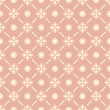 Seamless floral pattern with geometric stylized flowers. — Vector de stock #26277105