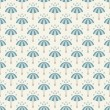 Seamless pattern with umbrellas and rain drops. — Stock Vector