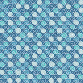 无缝的手绘制具有复古风格中波的模式. — 图库矢量图片