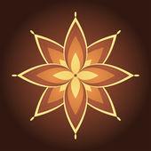 Transparente motif floral avec main dessiné des fleurs stylisées. — Vecteur