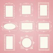 Set of vector doodle frames. — Stock Vector