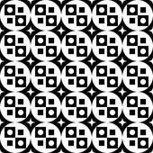 黑色和白色无缝的几何图案. — 图库矢量图片