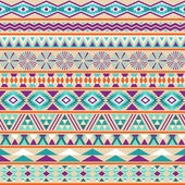Tribal striped seamless pattern. Geometric multicolor background. — Stock Vector
