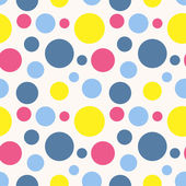 Seamless polka dot pattern in retro style. — Stock Vector