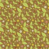 幾何学的な様式化された葉と花のシームレスな花柄. — ストックベクタ