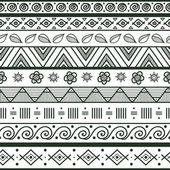 Tribal striped hand drawn seamless pattern. — Stock Vector