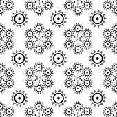 Tribal de patrones sin fisuras. azteca geométrica fondo blanco y negro. — Vector de stock