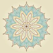 Mandala. Beautiful hand drawn flower. — Stock Vector