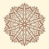 Mandala. belle fleur dessinés à la main. — Vecteur