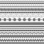 Aztec seamless pattern. — Stock Vector