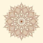 Mandala. Beautiful hand-drawn flower. — Stock Vector