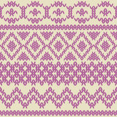 Knitted seamless pattern in ethnic style. Vintage soft colors. — Stock Vector