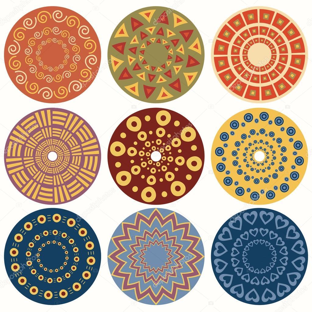 Геометрические узоры круг